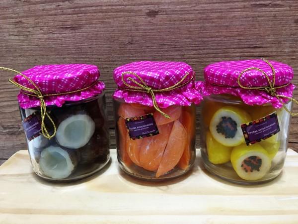Compotas de frutas (vidro)