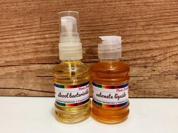 Álcool e sabonete bactericida - 50 ml