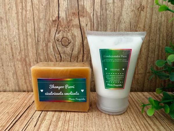 Psori capilar - shampoo sólido e condicionador