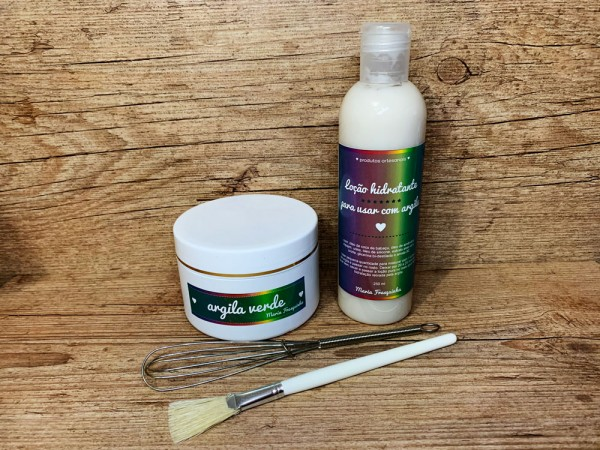 Argila - kit máscara facial