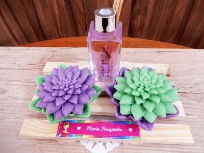 Cactus com aromatizador de varetas