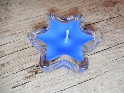 Velas perfumadas - vidro estrela