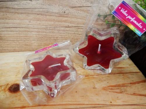 Vela perfumadas - vidro estrela