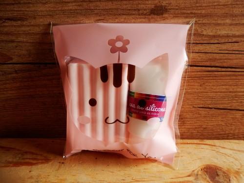 Duplinha sabonete e luva de silicone - Cat