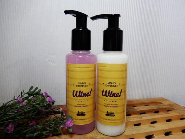 Wine - shampoo e condicionador de barba