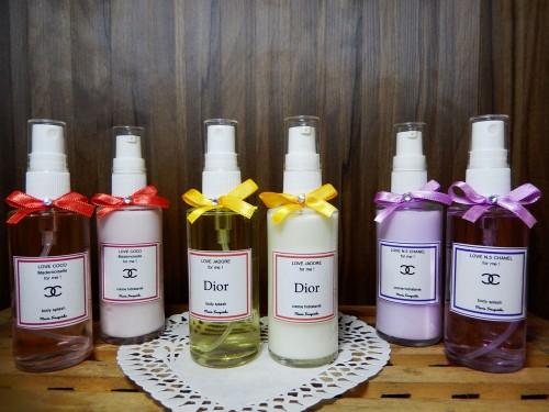 Body Splash e creme hidratante (perfumaria importada) 70 ml