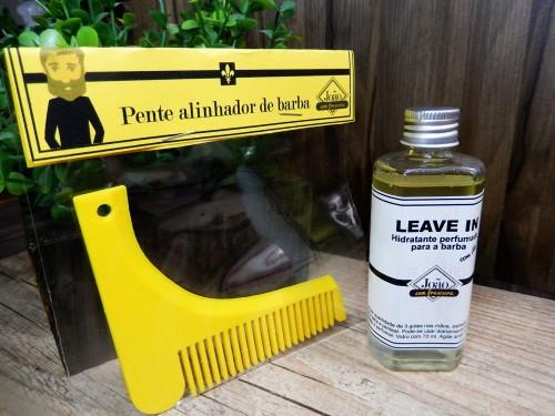 Leave in para a barba com pente alinhador