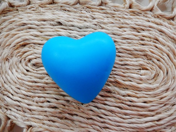 Coração médio arredondado